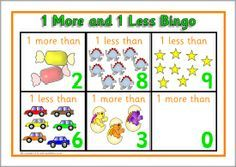 1 more and 1 less bingo to 10 (SB3134) - SparkleBox