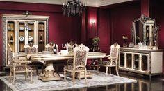 Muebles para salón comedor de estilo clásico: mesas de comedor ...