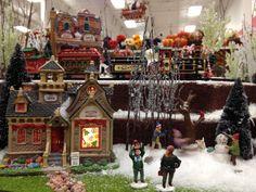 christmas lemax display 2012 christmas village display christmas town christmas villages hawthorne village - Michaels Christmas Village