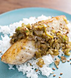 Halibut with Brown Butter, Lemon & Aged Fish Sauce #recipe