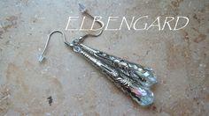 Ohrringe Edelstahl Kelch Kristall AB von Elbengard auf DaWanda.com