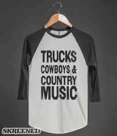 Trucks Cowboys Country Music (Baseball)