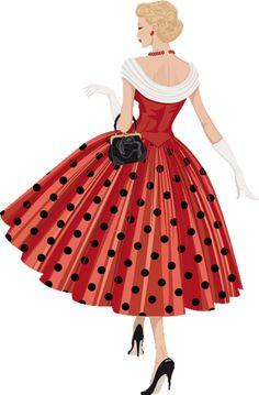 """Photo from album """"Ретро"""" on - weihnachten,lustige Bilder, Landwirtschaft und mehr 1950s Fashion, Fashion Art, Vintage Fashion, Vintage Dresses, Vintage Outfits, Adidas Beanie, Cute Alphabet, Retro Mode, Fashion Design Sketches"""
