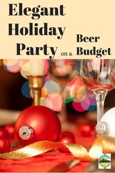 You'd love to give a holiday party, but those events can be real budget-busters. Well, ho-ho-hold on there. There are ways to do it up right and not break the bank. Here are some tips. Have anElegant holiday party on a beer budget Healthy Eating Tips, Healthy Nutrition, Frugal Christmas, Cheap Christmas, Christmas Ideas, Merry Christmas, Beer Cap Crafts, Christmas Shopping Online, Vegetable Drinks