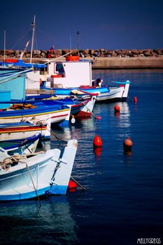 Kardemena, Kos, Greece Mykonos, Santorini, Us Sailing, Boat Painting, Greece Islands, Summer Is Here, Fishing Villages, Fishing Boats, Ancient Greece