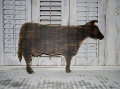 Wooden Cow Sign Wall Hanging Farmhouse Wall by hensnesttreasures, $28.00