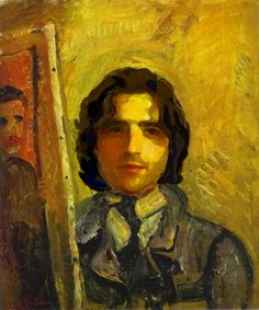 USE OF COLOR OF LIGHT INDOORS (Chaim Soutine - Self Portrait, ca. 1918 (Russian, 1893-1943)
