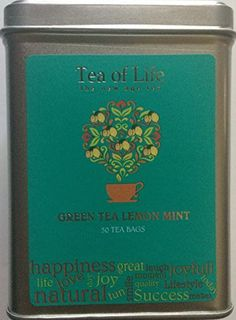 Tea of Life Square Tin - 50 Bags (Green Tea Lemon Mint) by Tea of Life >>> You can find more details by visiting the image link.