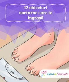 12 obiceiuri nocturne care te #îngrașă  Fără să ne dăm seama, #mulți dintre noi avem anumite obiceiuri #nocturne care duc la câștigul în greutate. Vrei să #descoperi cum poți să slăbești în timp ce dormi? Health Tips, Healthy Living, Health Fitness, Ketogenic Diet, Fat Burning, Step By Step, Loosing Weight, Natural Remedies, Weights
