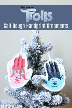 If your kids love Trolls, they'll love this fun Christmas salt dough craft. Make your own Salt Dough Handprint Trolls Ornament. It's so easy and fun! All Things Christmas, Kids Christmas, Christmas Ornaments, Xmas, Diy Ornaments, Christmas 2016, Handmade Christmas, Christmas Decor, Merry Christmas