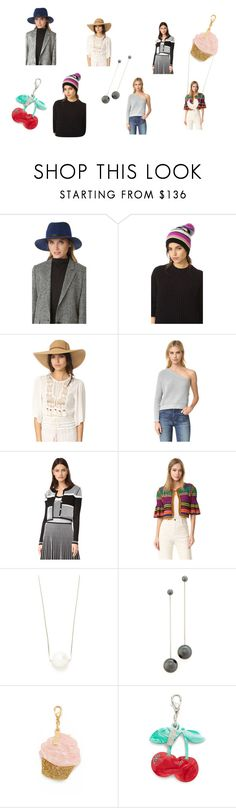 """fashion trendz"" by justinallison ❤ liked on Polyvore featuring rag & bone, White + Warren, Melissa Odabash, MLM, Prabal Gurung, Spencer Vladimir, Salvatore Ferragamo, Edie Parker, black and casualoutfit"