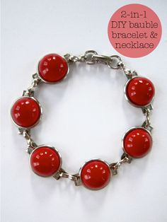 2-in-1 Bauble Bracelet & Necklace