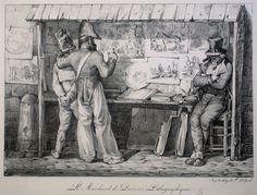 """""""le marchand de dessins"""" per Nicolas-Toussaint Charlet"""