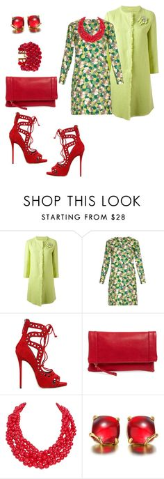 """""""# green coat red shoes"""" by andrea-jones-4 ❤ liked on Polyvore featuring Ermanno Scervino, La DoubleJ Editions, Giuseppe Zanotti, Sole Society, Humble Chic and Chanel"""