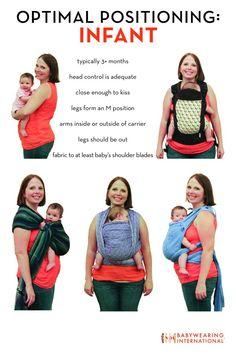 Terrific graphic from Babywearing International on optimal positioning of your baby in a carrier!