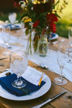 Tableware, napkin rental, glassware rental, silverware rental