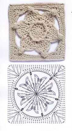 Motifs Granny Square, Christmas Crochet Patterns, Granny Square Crochet Pattern, Crochet Squares, Crochet Granny, Crochet Stitches, Crochet Flowers, Crochet Lace, Needlework