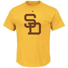 San Diego Padres Majestic Big & Tall Cooperstown Logo T-Shirt - Gold