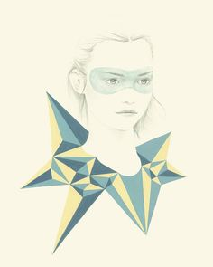 Gorgeous ethereal illustrations with a geometric twist by Emma Leonard
