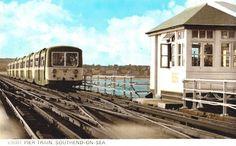 Pier Train. East End London, Morning Dew, The Old Days, Vintage Postcards, Ancestry, Childhood Memories, Castles, Planes, Trains