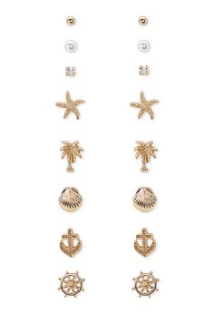 Nautical Motif Earring Set - 500 Under £5 - 1000130606 - Forever 21 UK