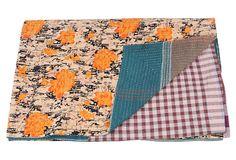 Hand-Stitched Kantha Throw, Hope