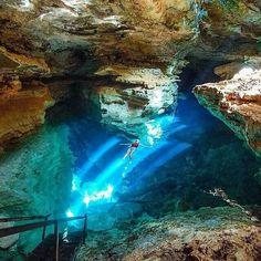 Poço Azul, Chapada Diamantina National Park, Brazil.