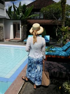 Outside our Chalet by the pool..Sri Bungalow in Ubud