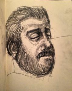 #sketchbook #portrait #man #sleep