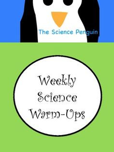 14 weeks of upper elementary science warm-ups divided by topic ($)