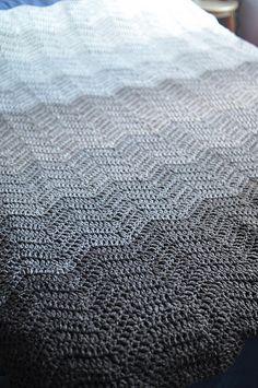 Gradient rippled blanket (link to pattern)