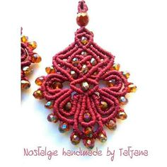Macrame earrings  https://m.facebook.com/Nostalgie-Handmade-by-Tatjana-425760884176858/