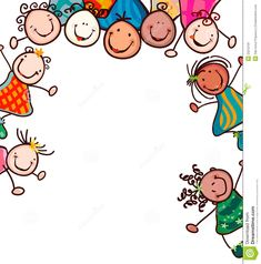 Happy Kid Clip Art Happy kids with smiling faces. Drawing For Kids, Art For Kids, Music Clipart, Harmony Day, Boarder Designs, Kids Graphics, Bible Crafts For Kids, Face Icon, Smile Images