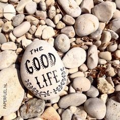 Living the good life! :-D #lettering #handlettering #typography  #pebble #paperfuel