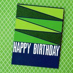 Love the geometry of this card! Birthday Cake Card, Birthday Cards For Boys, Funny Birthday Cards, Handmade Birthday Cards, Birthday Humorous, Birthday Sayings, Bday Cards, Diy Birthday, Happy Birthday Ecard