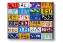 Our Colorful History License Plate Art Print to a buyer in Switzerland!