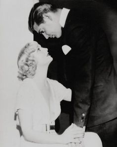 Carole Lombard and Clark Gable, I love the way he looks at her...