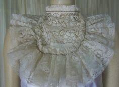 AP46 Beige Lace jabot Fantasy Fairytale Civil Victorian Steampunk Dress Collar | eBay