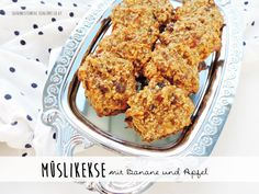 granolca cookies with banana and apples | Müslikekse mit Banane und Apfel