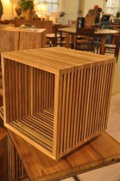 "Slatted Cube Side Table $135,15.75""W x 15.75""D x 17.3""H $350,15.75""W x 15.75""D x 34""H $430,15.75""Wx15.75""Dx50""H"