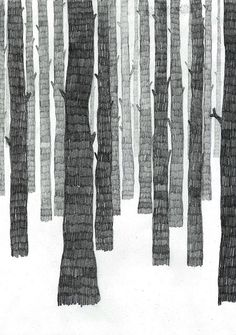 Les Petites Choses  forest trees illustration