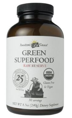 Amazing Grass Raw Reserve Green SuperFood Powder-30 Servings, 8.5-Ounce: Amazon.com: Grocery & Gourmet Food