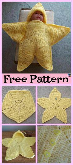 Cute Crochet Baby Star Bunting – Free Pattern #freecrochetpattern #babywrap #bunting #babygift