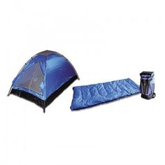 3 Piece - 1 Person Camping Gear Set | Tent, Sleeping Bag, Backpack  #BartonOutdoors