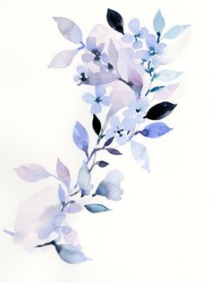 Series 1 Floral Original Art Source by withoutchords Watercolor Flowers Tutorial, Watercolor Sketchbook, Abstract Watercolor, Watercolour Painting, Flowers Wallpaper, Poster Photo, Original Art, Original Paintings, Retro Art