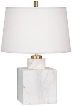 Robert Abbey Canaan Carrara Marble 19 1/2-Inch-H Table Lamp - #EU3N330 - Euro Style Lighting