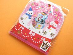 Kawaii Cute Merry Christmas (Xmas) Sticker Flakes Sack Crux (00256)