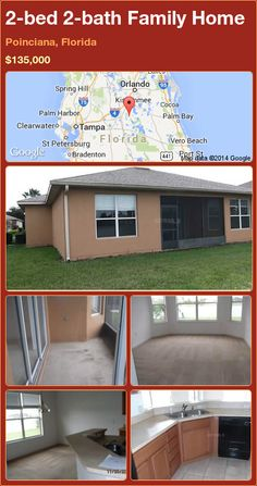 2-bed 2-bath Family Home in Poinciana, Florida ►$135,000 #PropertyForSale #RealEstate #Florida http://florida-magic.com/properties/82673-family-home-for-sale-in-poinciana-florida-with-2-bedroom-2-bathroom