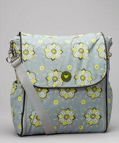 Look what I found on #zulily! Slate Flower Juliette Diaper Bag by Honey Bunny #zulilyfinds http://www.zulily.com/invite/kcrim608