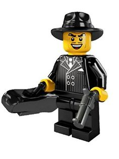 LEGO Minifigures Series 5 Gangster COLLECTIBLE Figure sneaky rotten crook pinstripe suit hat trick violin case -- Check this awesome product by going to the link at the image.